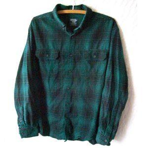 Faded Glory Evergreen/Black Plaid Flannel